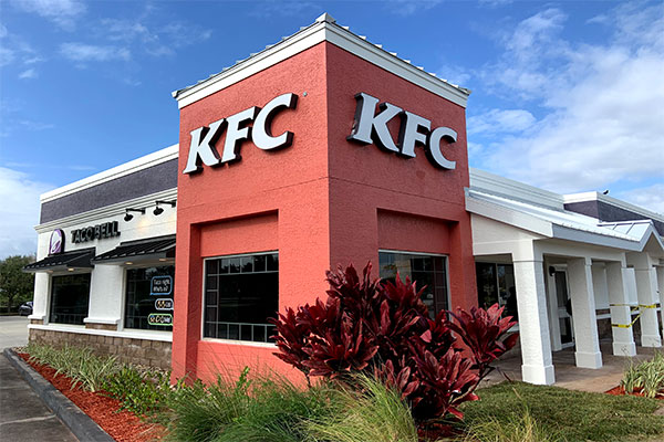 The KFC and Taco Bell has a new look in Sebastian, Florida.