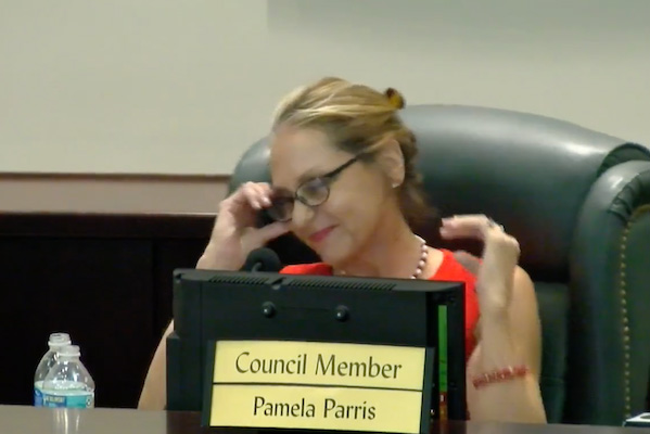 Sebastian Councilwoman Pam Parris tells residents that she didn't write the controversial comments, claiming the press hacked her Facebook account.