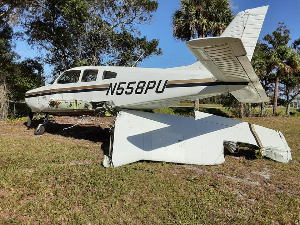 A plane crashes in Vero Beach. (Photo by VBPD)