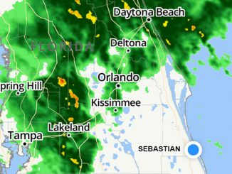 Severe weather coming to Sebastian, Florida.
