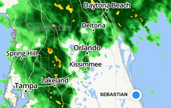 Severe weather coming to Sebastian, Florida.