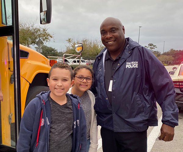 Officer Darrell Rivers with Vero Beach Police Department.