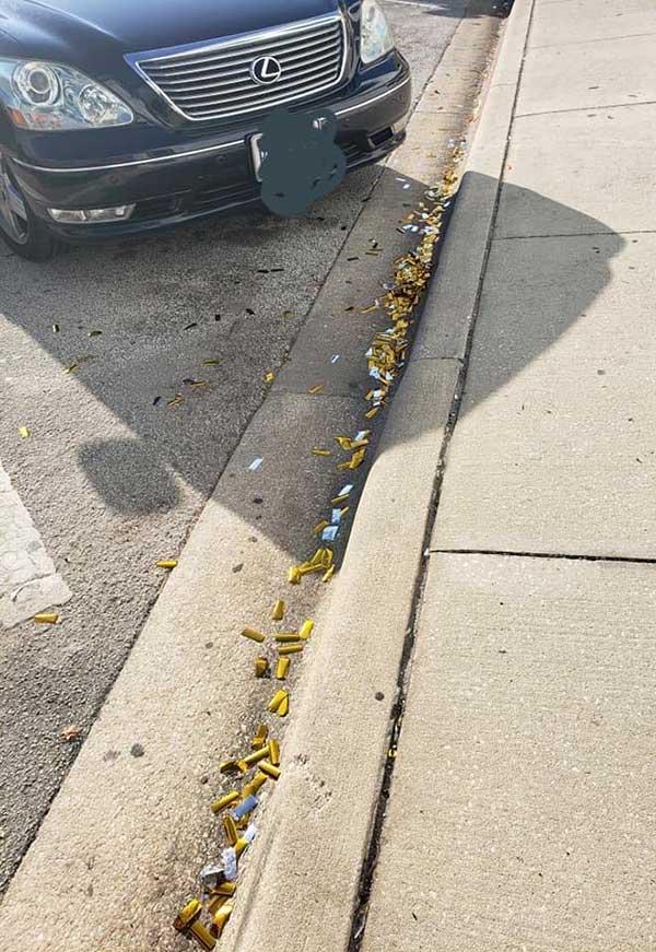 Confetti littered on streets in Vero Beach.