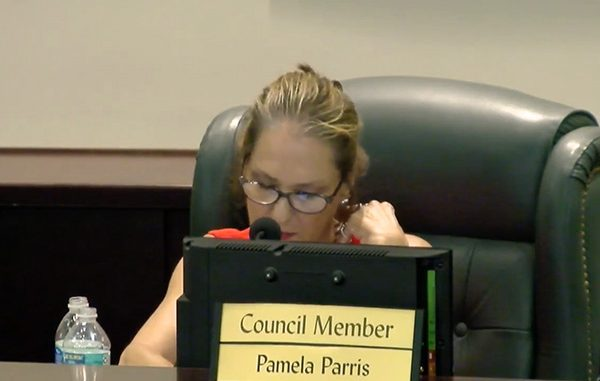 Sebastian City Councilwoman Pamela Parris blames press for reinstating board member.