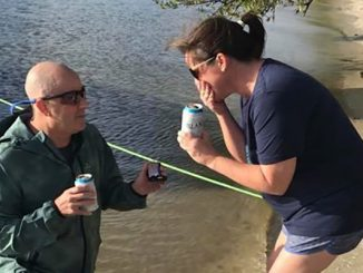 Berrick Abramson makes a marriage proposal in Sebastian, Florida.