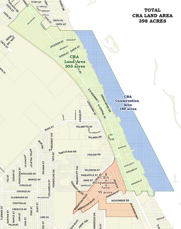 Map of the CRA District