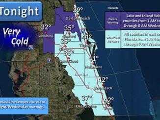 Cold and frigid in Sebastian, Florida.