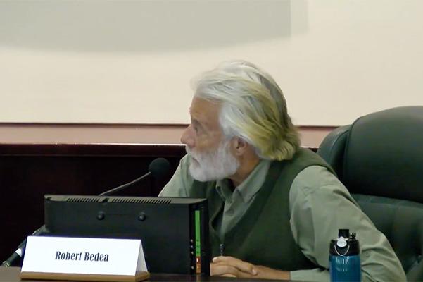 Robert Bedea resigns from Natural Resources Board in Sebastian, Florida.