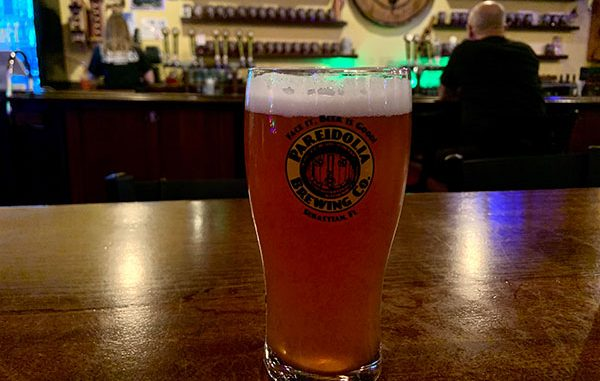 U-Pick Raspberry Pale Ale at Pareidolia Brewing Company in Sebastian, Florida.