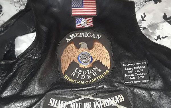 American Legion vest worn by Jeff Gage.