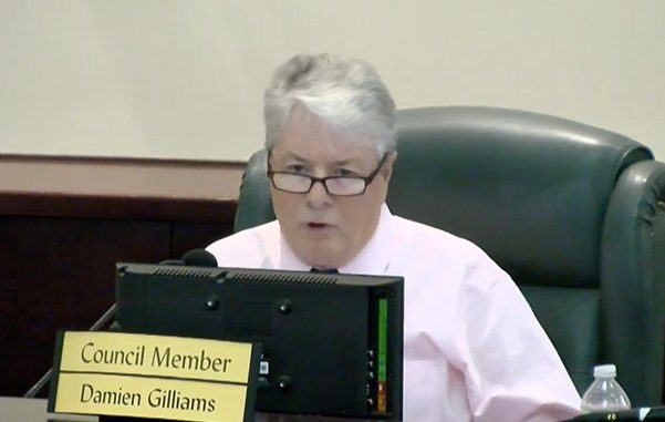 Sebastian City Councilman Damien Gilliams accuses former city council of stealing assets.