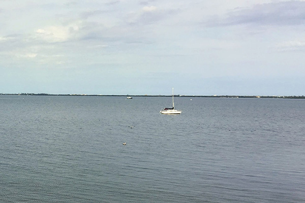 Cooler weather this week in Sebastian, Florida.