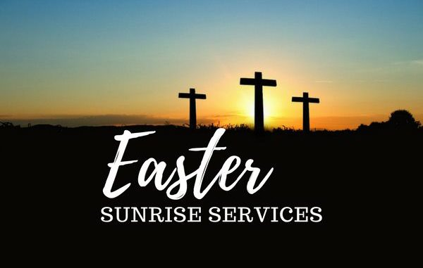 Easter Sunrise Service in Sebastian, Florida.