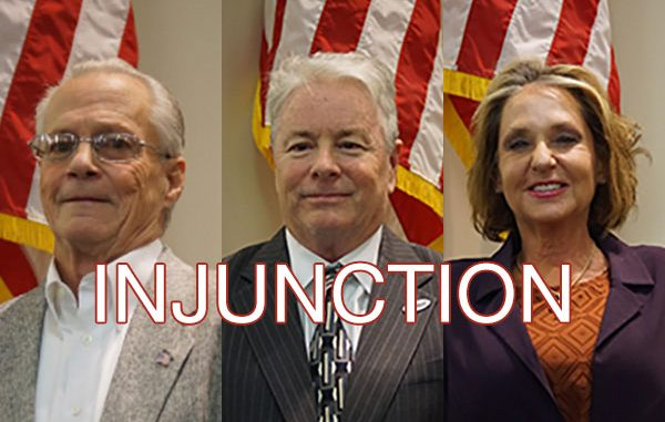 Injunction filed against Charles Mauti, Damien Gilliams, and Pamela Parris.