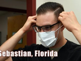 More people are wearing medical masks now in Sebastian, Florida.