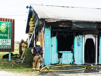 Twisted Pickle Deli Fire in Wabasso, Florida. (Credit: Brian LaPersonerie)