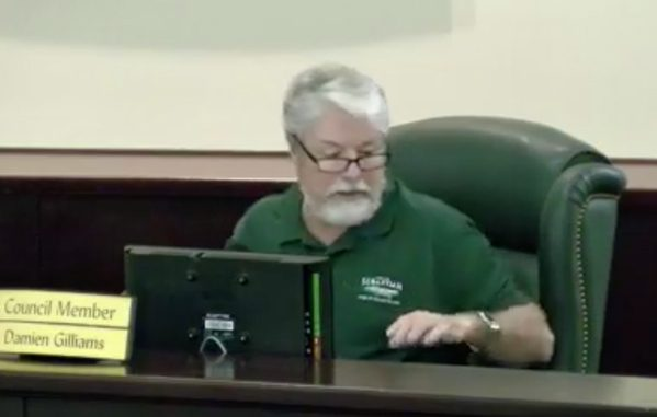 Councilman Damien Gilliams is facing a recall, a lawsuit for breaking the Sunshine Law, and now dismissing the people of Sebastian.