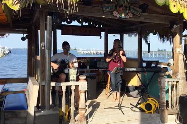 Bars reopening in Sebastian, Florida.
