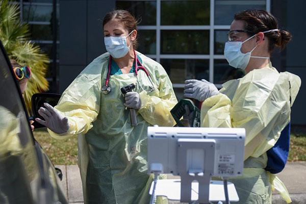 Free coronavirus testing this week in Fellsmere, Florida.