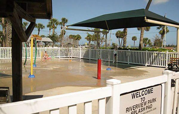 Splash Pad reopens at Riverview Park in Sebastian, Florida.