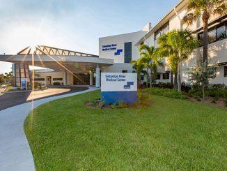 New main entrance to Sebastian River Medical Center