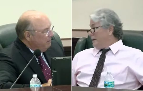 Mayor Ed Dodd (left), Damien Gilliams (right).