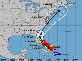 Hurricane Isaias threatens Sebastian, Florida.