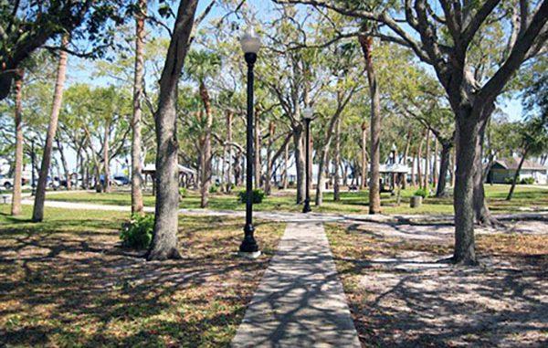 Riverview Park sidewalks in Sebastian, Florida.