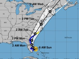 Tropical Storm Isaias path.
