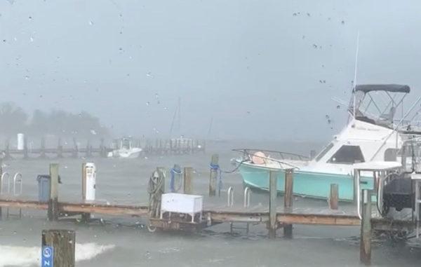 Rough seas in Sebastian, Florida.