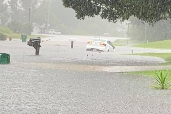 Flooding in Sebastian, Florida.