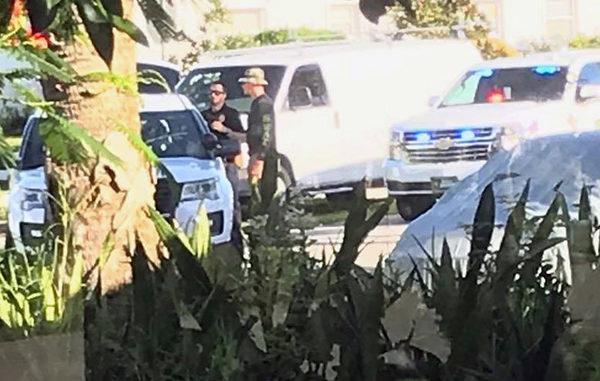 Sebastian Police at the scene on Gilbert St.