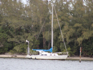 Sailboat in the Indian River Lagoon