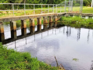 Unblocked drainage in Sebastian, Florida.
