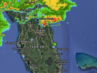 Severe thunderstorm watch for Sebastian, Florida (ThorGuard Radar)