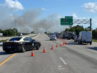 Fire near I-95 (Photo by Fellsmere Police Department)