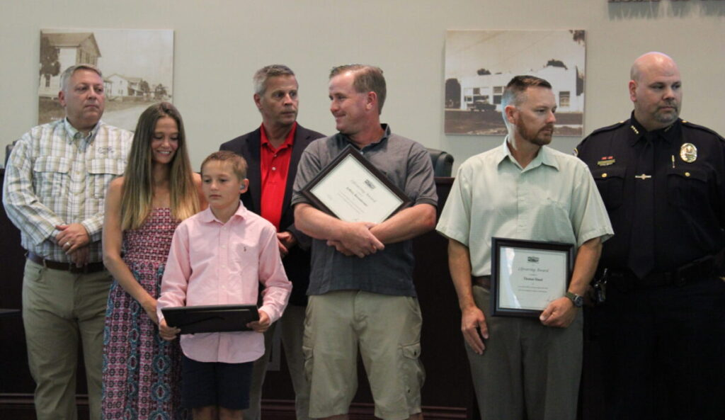 A nine-year-old boy and three bystanders recognized by City of Sebastian