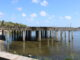 Concrete platform next to Squidlips in Sebastian, Florida.