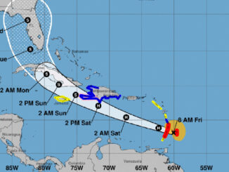 5-day cone by National Hurricane Center
