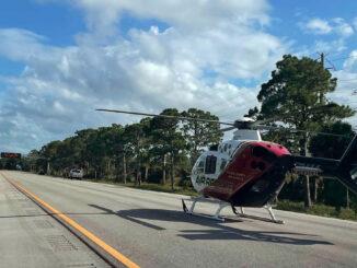 Crash on I-95 - Photo courtesy of IRCSO