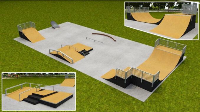 Skate park in Fellsmere, Florida.