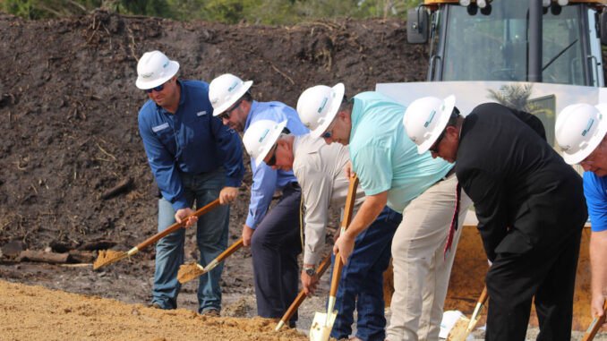 Sebastian officials attend groundbreaking ceremony for new Public Works Complex.