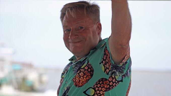 Dougie from Goodtimes Entertainments. Karaoke at Capt. Hirams Sandbar.