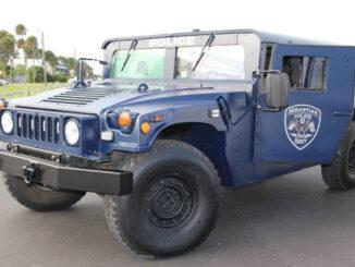 Sebastian Police Department Humvee