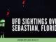 UFO sightings in the sky