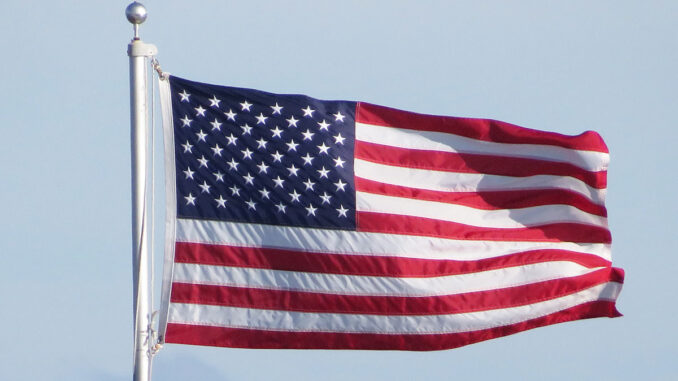 American Flag at Riverview Park