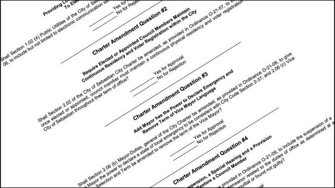 City of Sebastian Charter Amendments